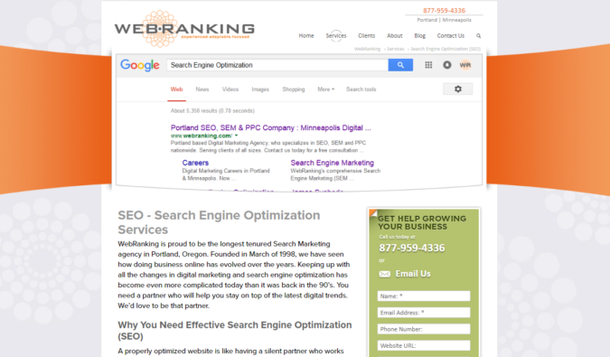 Web.Ranking-screenshot-675x395 Top 75 SEO Companies & Services in the World