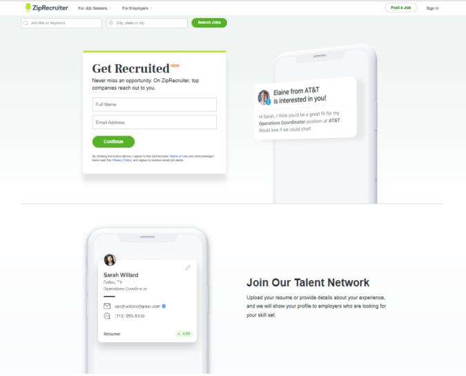 Zip-Recruiter-screenshot-675x544 Best 50 Online Job Search Websites