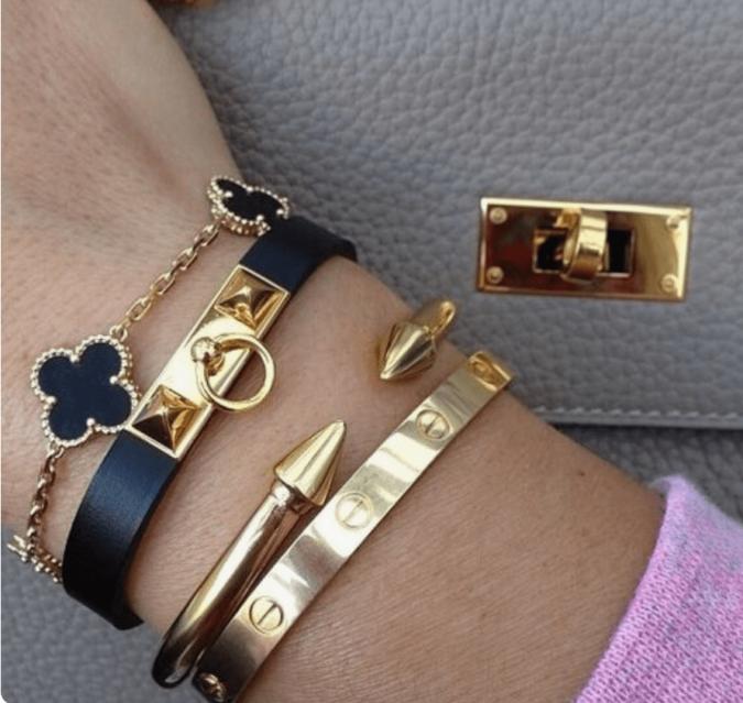 bracelets.-675x639 Bracelet Stacking: 4 Best Tips on How to stack Bracelets
