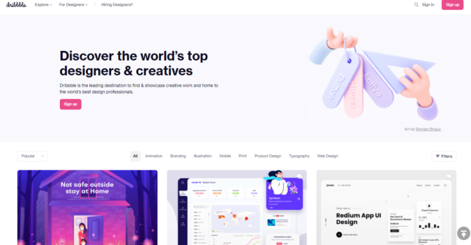 dribbble-screenshot-675x351 Best 50 Online Job Search Websites
