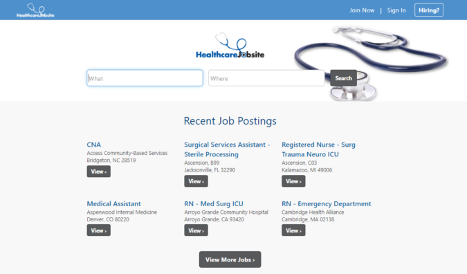 healthcare-Job-screenshot-675x396 Best 50 Online Job Search Websites