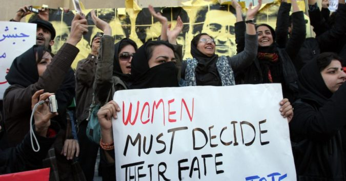 iran-protesting-against-violence-against-women-675x354 Top 10 Most Dangerous Countries for Women in the World