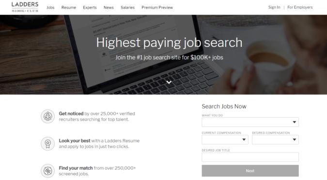 ladders-screenshot-675x373 Best 50 Online Job Search Websites