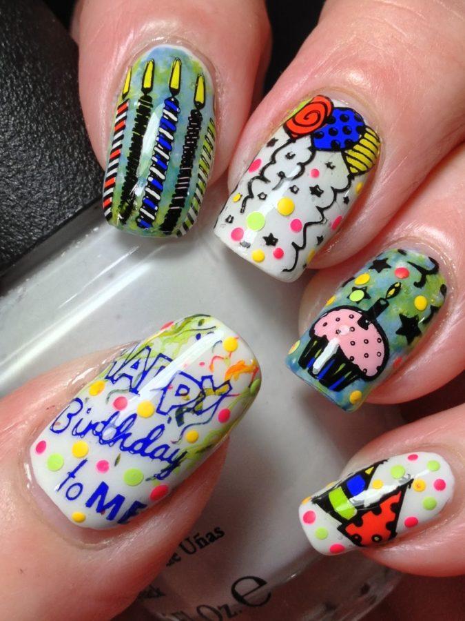 Birthday-Nails-2-675x900 20 Weirdest Nail Art Ideas That Should Not Exist