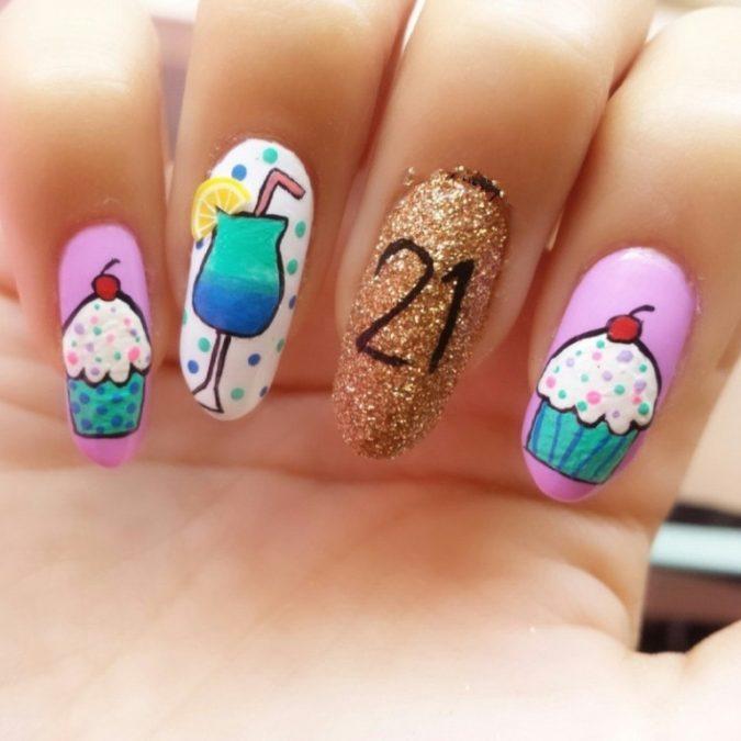 Birthday-Nails-675x675 20 Weirdest Nail Art Ideas That Should Not Exist