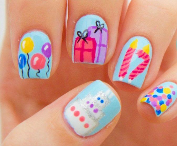 Birthday-Nails.-675x557 20 Weirdest Nail Art Ideas That Should Not Exist