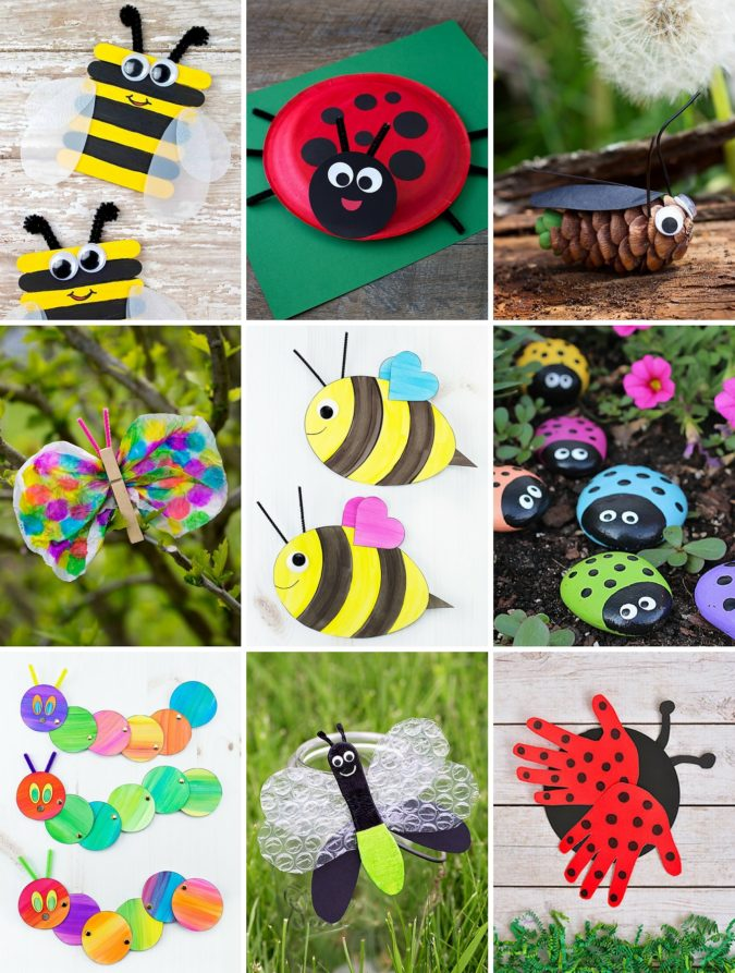 Bugs-Craft-1-675x893 18 Easiest Craft Ideas That You Can Create with Your Kids
