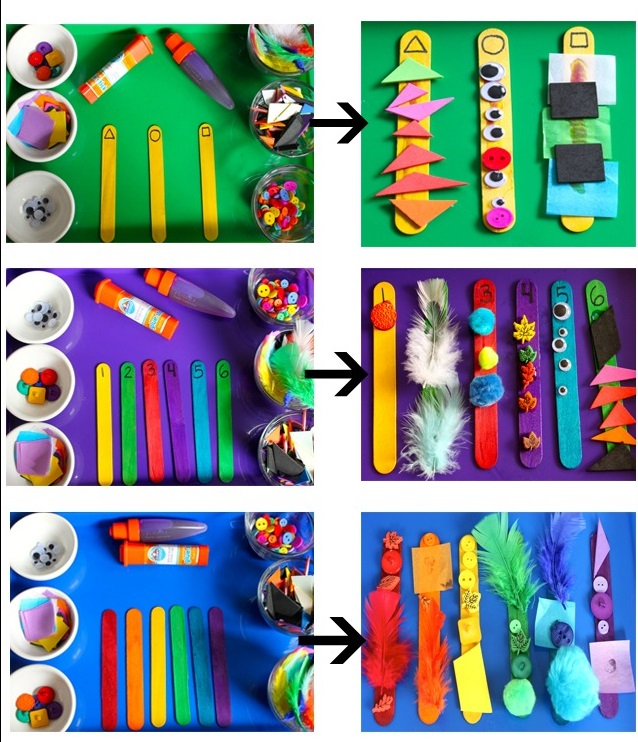Counting-Stick-Craft 18 Easiest Craft Ideas That You Can Create with Your Kids