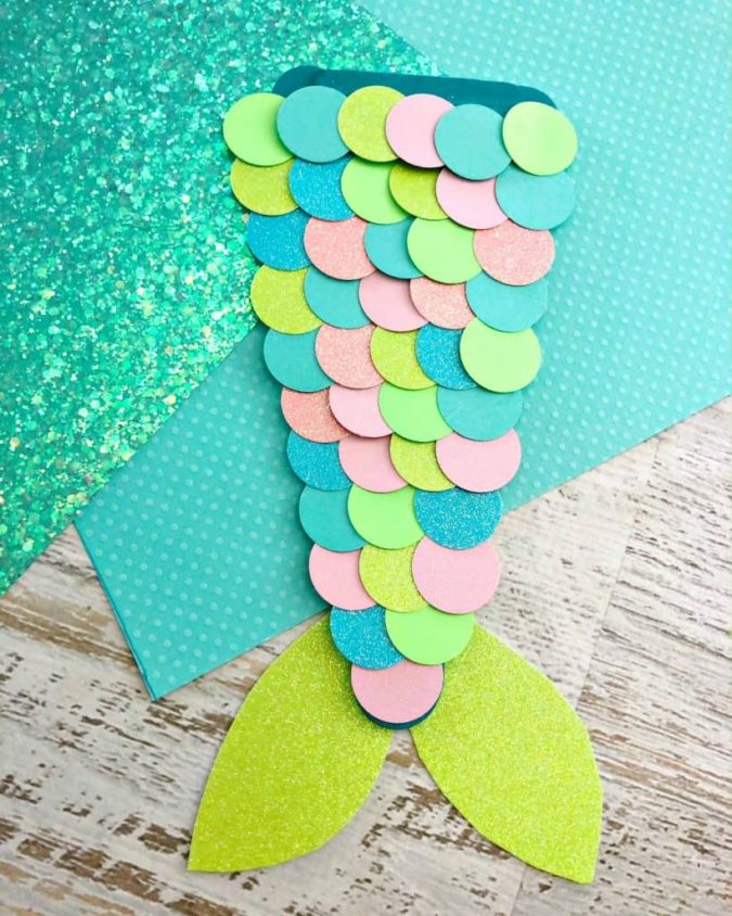 Crafty-Mermaid's-Tail-675x844 18 Easiest Craft Ideas That You Can Create with Your Kids