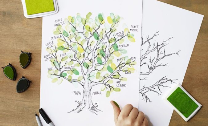 Family-Tree-Thumbprint-Craft-675x409 18 Easiest Craft Ideas That You Can Create with Your Kids
