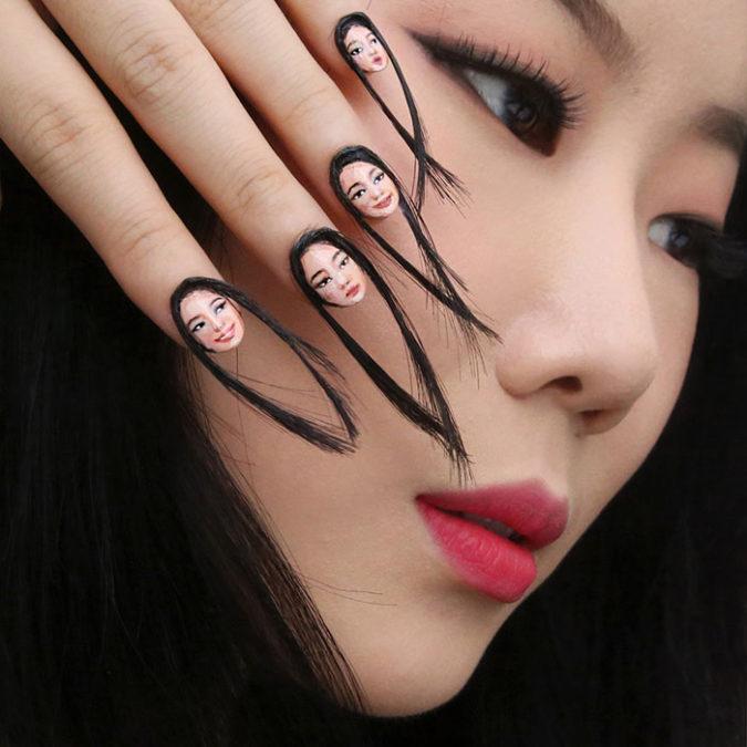 Hairy-Selfie-Nails-675x675 20 Weirdest Nail Art Ideas That Should Not Exist