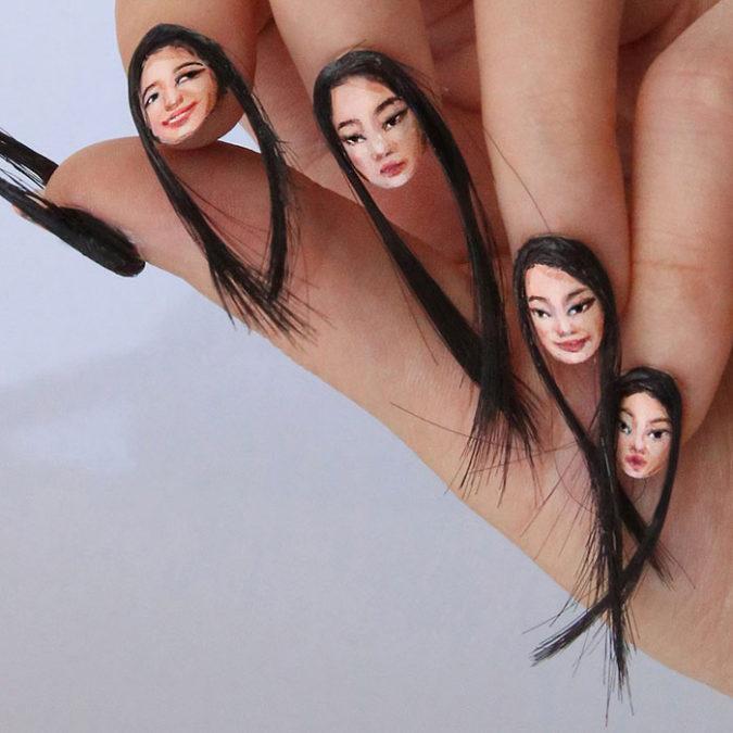 Hairy-Selfie-Nails.-675x675 20 Weirdest Nail Art Ideas That Should Not Exist