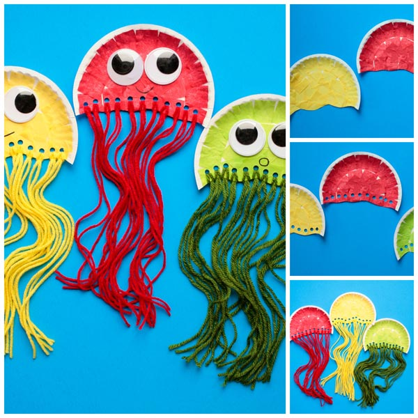 Jellyfish-Craft 18 Easiest Craft Ideas That You Can Create with Your Kids