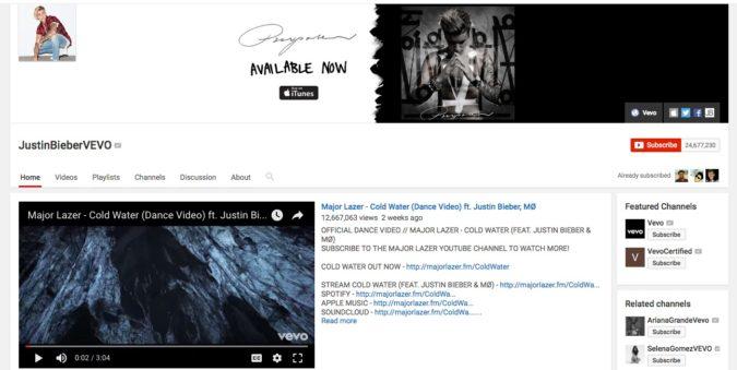 JustinBieberVEVO-675x339 Top 20 Richest YouTubers in 2021