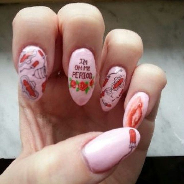 Period-Nails 20 Weirdest Nail Art Ideas That Should Not Exist