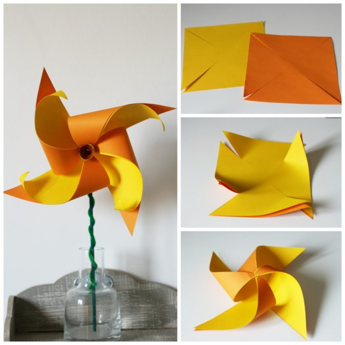 Pinwheel-Made-From-Paper.-675x675 18 Easiest Craft Ideas That You Can Create with Your Kids
