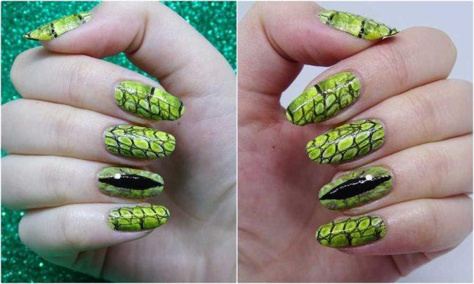 Reptile-Nails.-2-675x405 20 Weirdest Nail Art Ideas That Should Not Exist