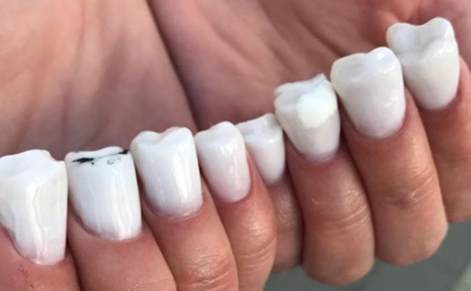 Teeth-Nails-675x418 20 Weirdest Nail Art Ideas That Should Not Exist