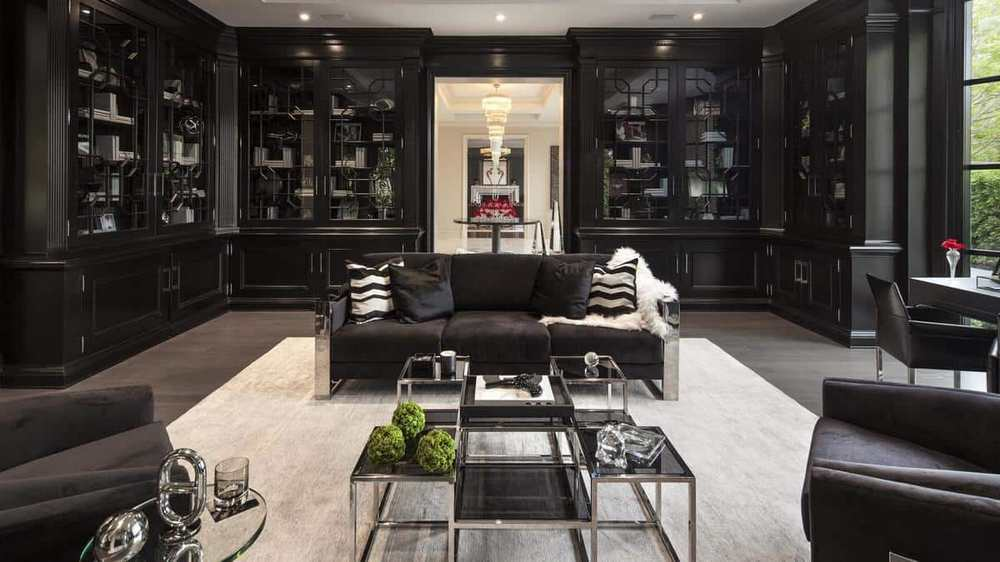The-blacked-out-luxurious-living-room-1 Top 25 Most Luxurious Rooms in the World