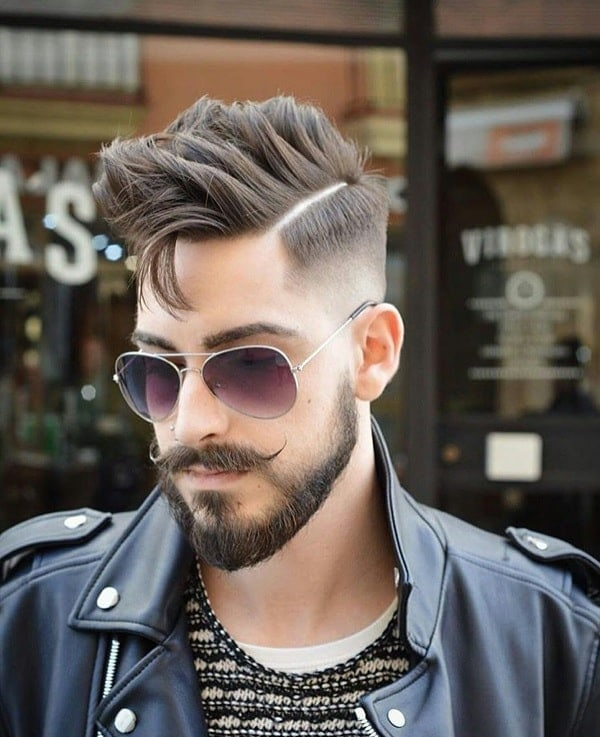 The-mustache-styled-beard-style. 20 Most Trendy Men's Beard Styles for 2020