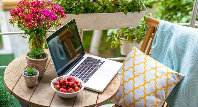 laptop-working-in-home-garden-2-675x365 Top 20 Garden Trends: Early Predictions to Adopt