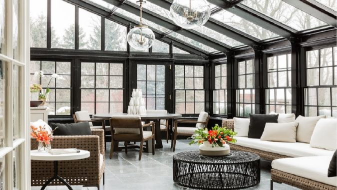 Contemporary-sunroom-2-675x380 25 Stunning Interior Decorating Ideas for Sunrooms