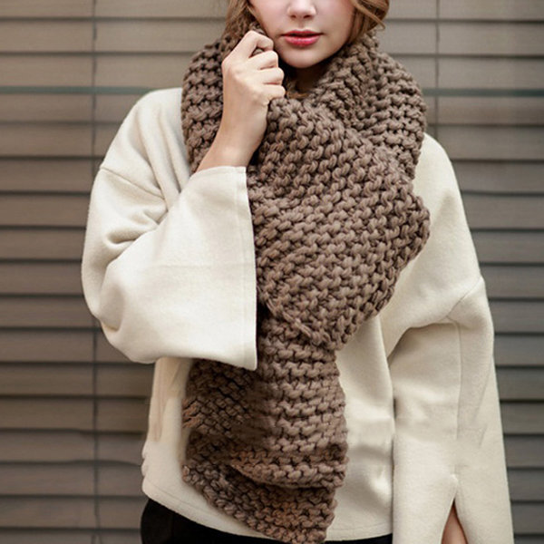 Knitted-scarves-1 10 Most Luxurious Looking Scarf Trends for Women in 2020