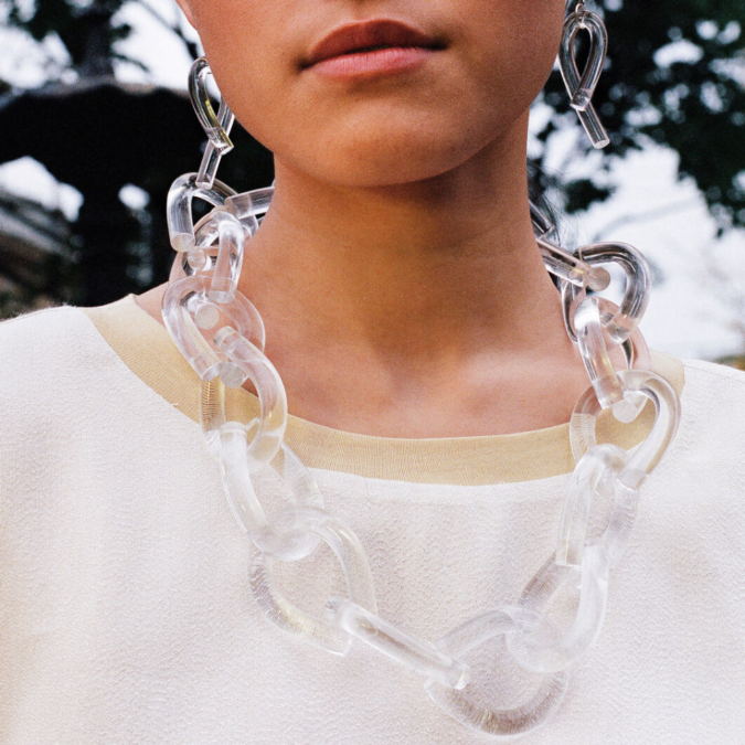 Twist-Lucite-Necklace-and-earrings-675x675 +30 Hottest Jewelry Trends to Follow in 2021