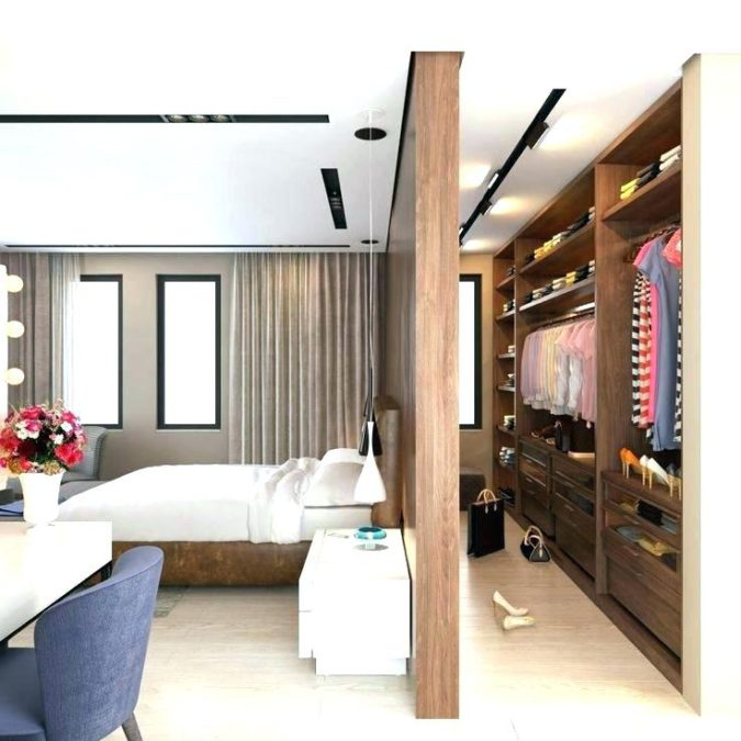 bedroom-with-dressing-675x675 How to Choose Bedroom Furniture and Decor