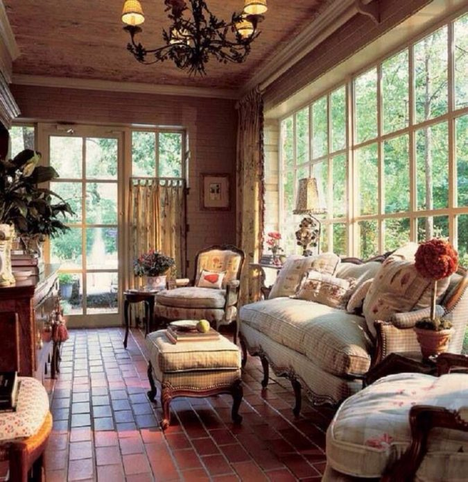 country-sunroom-675x694 25 Stunning Interior Decorating Ideas for Sunrooms