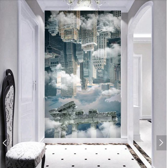 hallway-Wall-Mural-675x678 8 Trendy Hallway Decor Ideas to Revamp Your Home