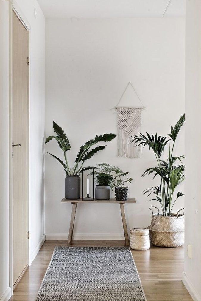 hallway-decor-flower-pots-675x1013 8 Trendy Hallway Decor Ideas to Revamp Your Home