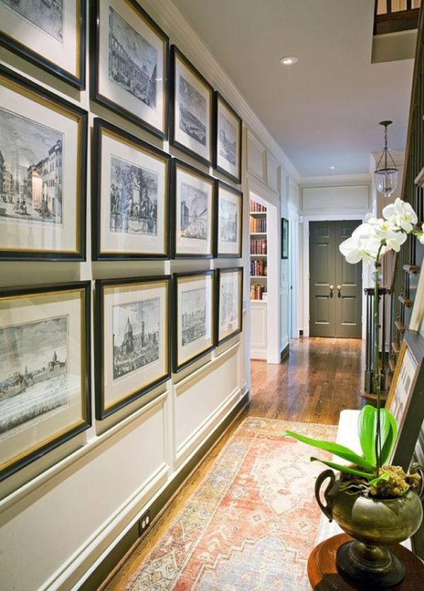 hallway-decor-pictures-wall 8 Trendy Hallway Decor Ideas to Revamp Your Home