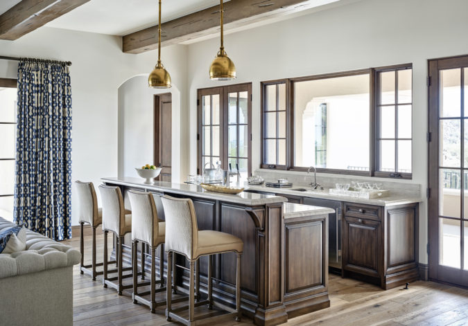 home-decor-kitchen-and-living-room-with-bare-windows-675x471 25 Stunning Interior Decorating Ideas for Sunrooms
