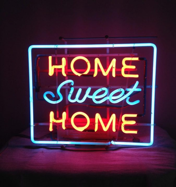home-decor-led-signs-neon-light-signs-675x719 8 Trendy Hallway Decor Ideas to Revamp Your Home