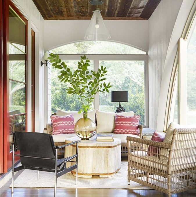 home-decor-small-sunroom-with-understated-colors-675x679 25 Stunning Interior Decorating Ideas for Sunrooms