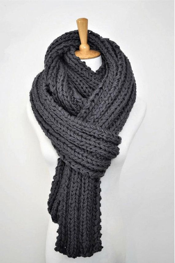 knitted-wool-scarf 10 Most Luxurious Looking Scarf Trends for Women in 2020