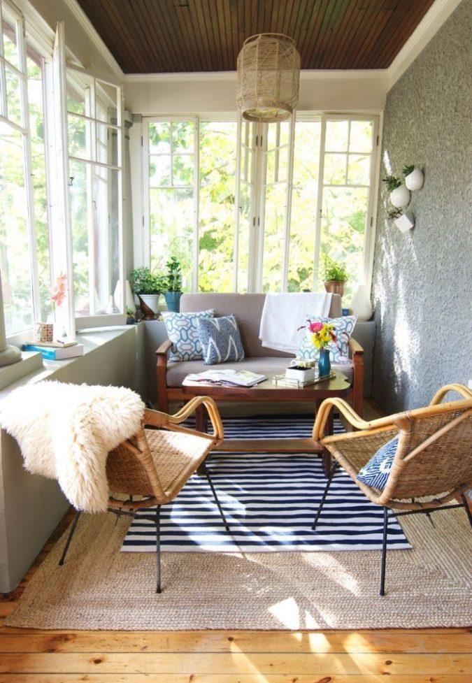small-sunroom-675x977 25 Stunning Interior Decorating Ideas for Sunrooms