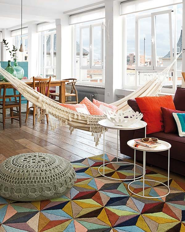 sunroom-with-hammock-2 25 Stunning Interior Decorating Ideas for Sunrooms