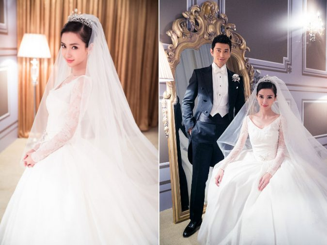 Angelababy-Wedding-Dress-2-675x506 15 Most Expensive Celebrity Wedding Dresses