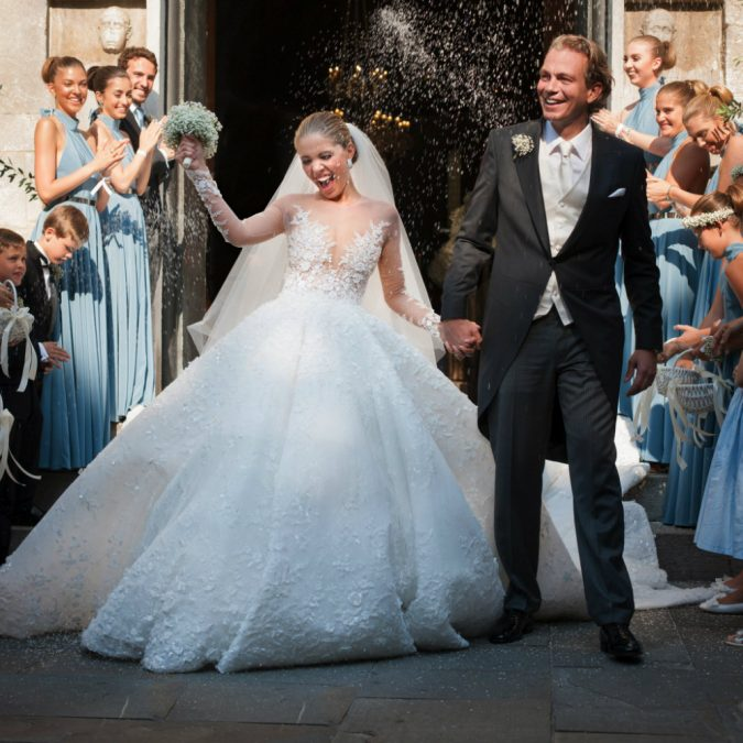 Crystal-gown.-675x675 15 Most Expensive Celebrity Wedding Dresses