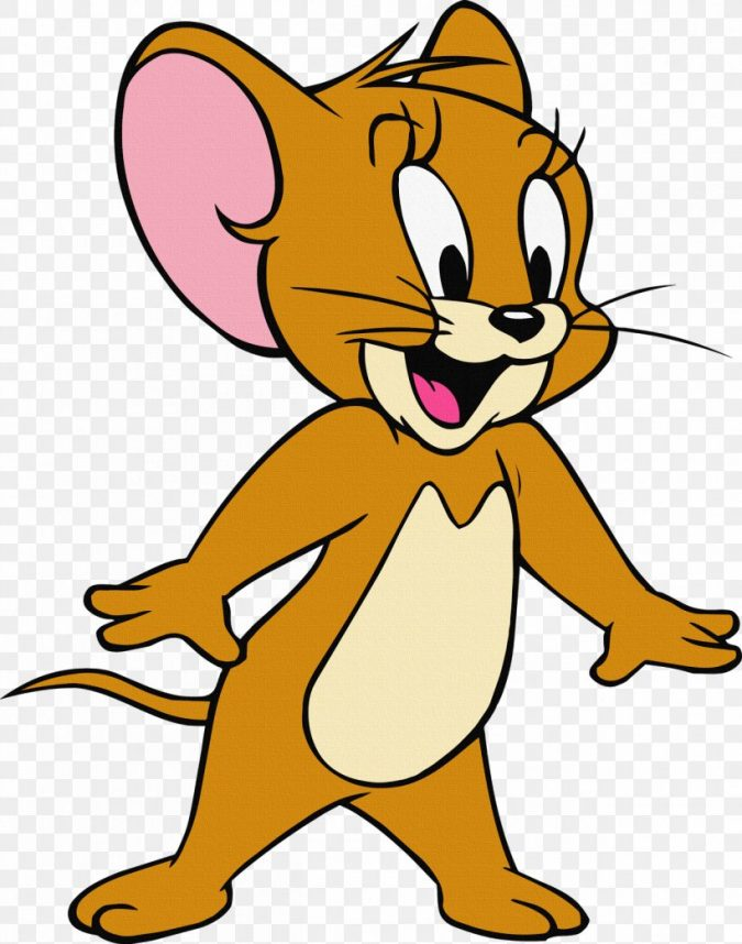 Jerry-mouse-cartoon-675x858 Top 25 Most Popular Cartoon Characters of All Time