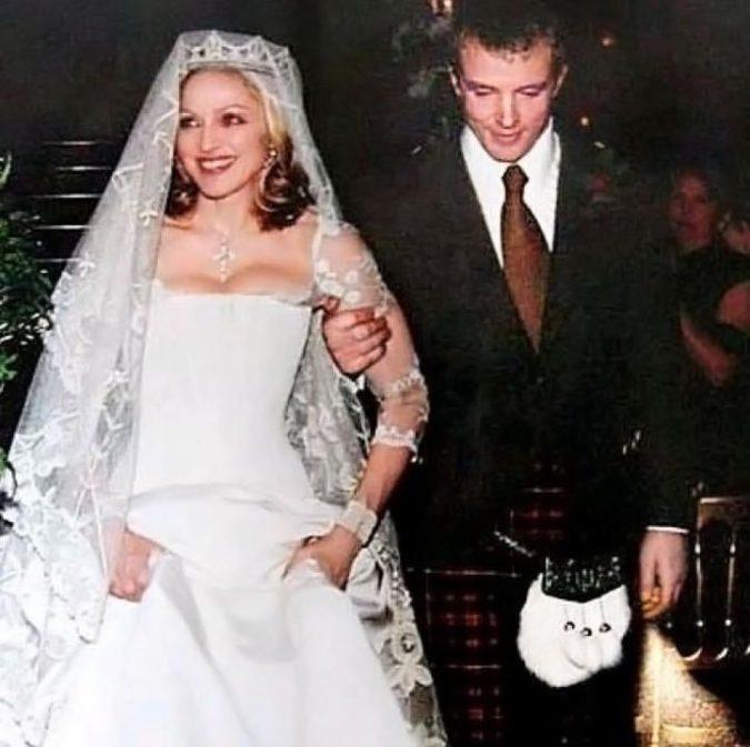 Madonna-wedding-dress-2-675x673 15 Most Expensive Celebrity Wedding Dresses