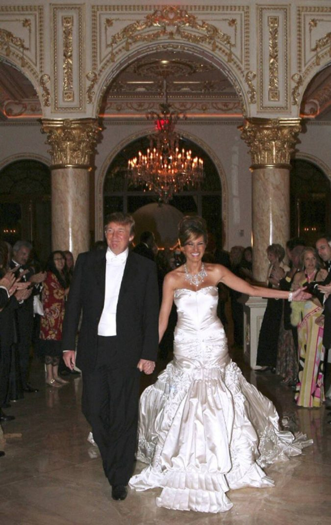 Melania-Trumps-dress-1-675x1070 15 Most Expensive Celebrity Wedding Dresses