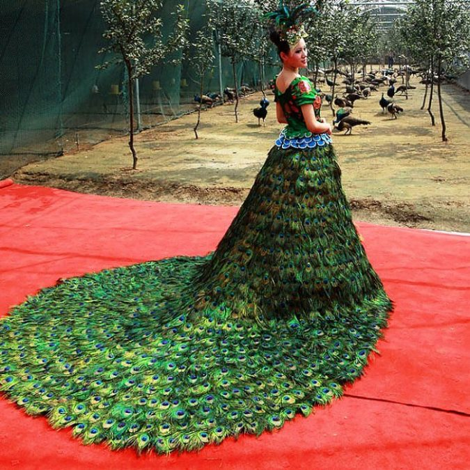 Peacock-dress-675x675 15 Most Expensive Celebrity Wedding Dresses