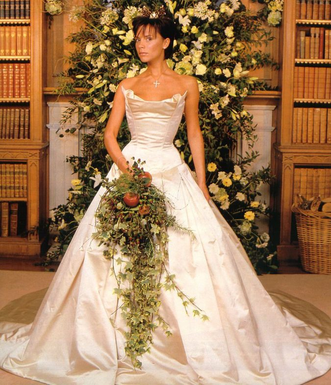Victoria-Beckham-675x784 15 Most Expensive Celebrity Wedding Dresses
