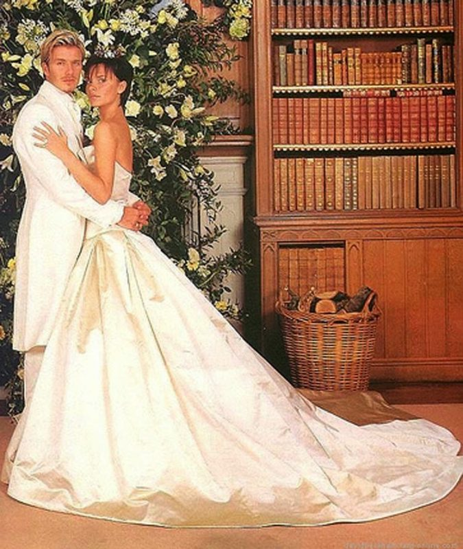 Victoria-Beckham.-1-675x799 15 Most Expensive Celebrity Wedding Dresses