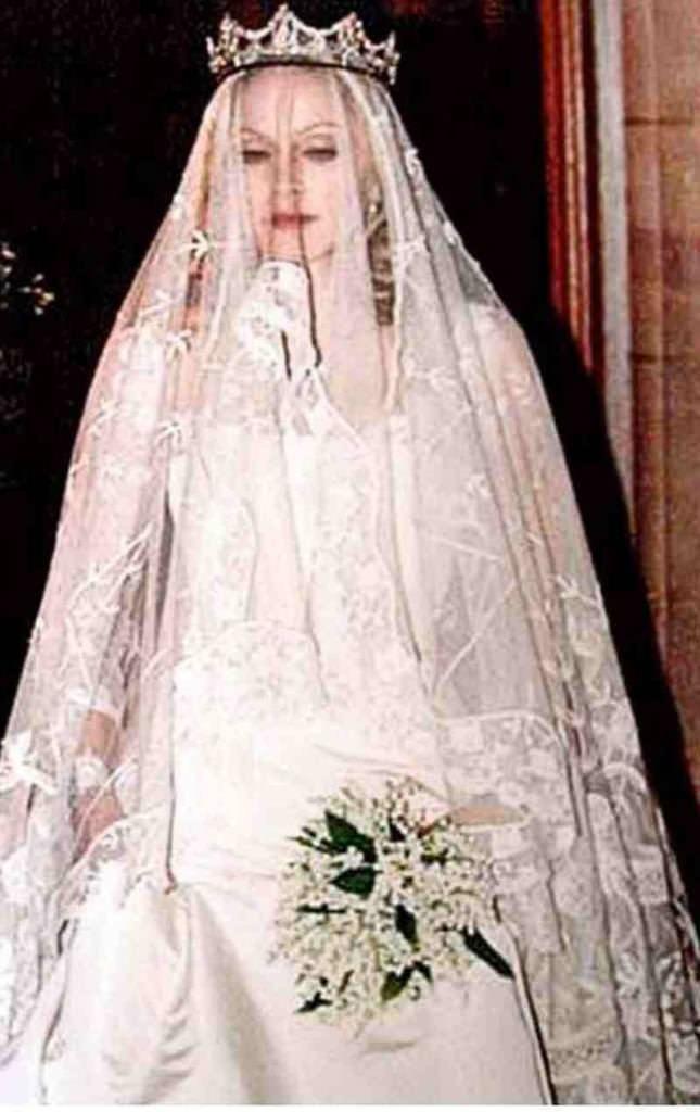 madonna-wedding-3 15 Most Expensive Celebrity Wedding Dresses