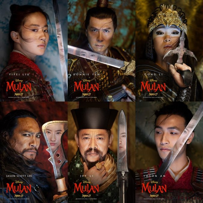 mulan-2020-character-posters-675x675 Top 7 Upcoming Disney Films to Watch This Year