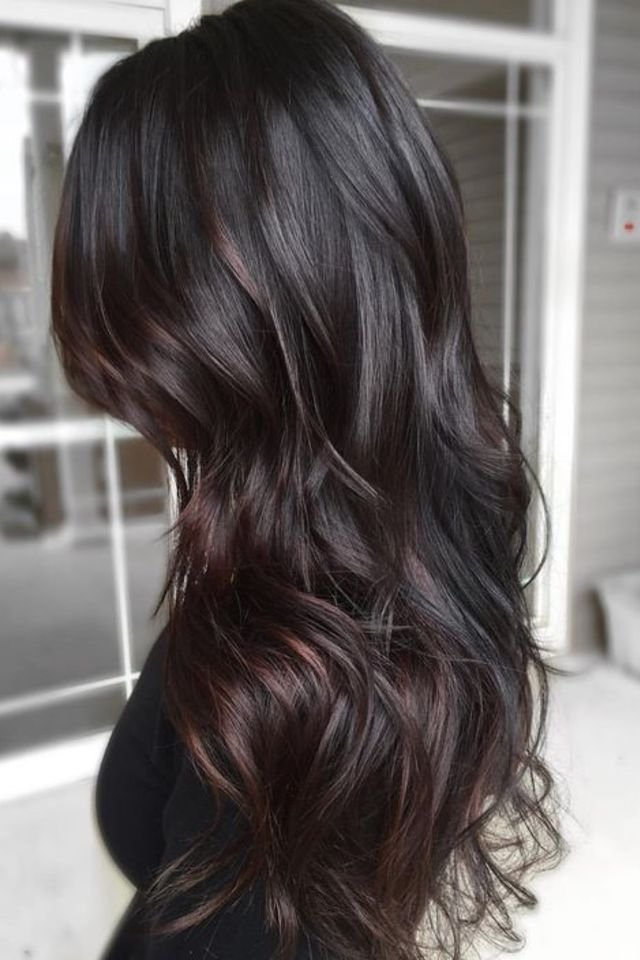 Black-hair. Top 20 Hottest Colorful Hair Ideas that Are So Cool in 2021